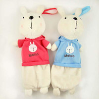 Wholesale Plush cartoon Metoo rabbit pencil bag cosmetic bag Wallet birthday