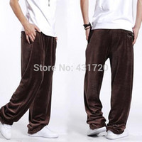big mens pants elastic waist - Autumn Big Mens Clothes Brand New Hip Hop Dancer Wide Legs Pants Fashion Loose Plus Size XXXL