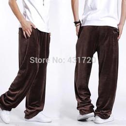 Wholesale Autumn Big Mens Clothes Brand New Hip Hop Dancer Wide Legs Pants Fashion Loose Plus Size XXXL