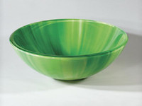 Wholesale Wash basin Glass Products Bathroom Cleaning Double glass Arts Home Decoration Grass Green