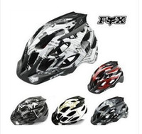 Wholesale Fox Flux Helmet climbing bike BMX Mountain Bike Helmet integrally molded