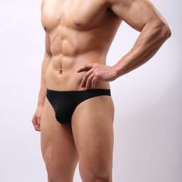 Wholesale Sexy Mens Thongs Underwear Gay Mens Thongs Cotton G Strings Pouch Penis Briefs Man Hot Wear New Shino Brand