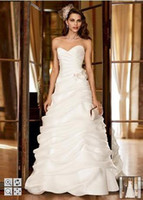 Wholesale Organza A Line Gown with Angled Draped Pick Ups Style SWG339