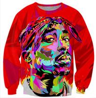 tie dye hoodies - Harajuku style new men women s D sweatshirt printed Tupac Pac tie dye printing pullover hoodies plus size