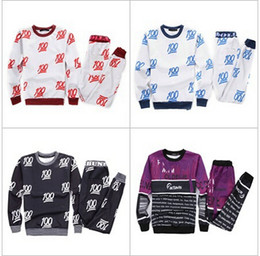Wholesale-New 100 white black red emoji print cartoon sweat suit tracksuit for men women joggers & hoodies 2 piece set free shipping