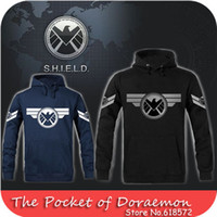 agent clothes - brand Marvel Agents of SHIELD fleece man hoody pullover sweatshirt thickening outerwear men clothing plus size xl
