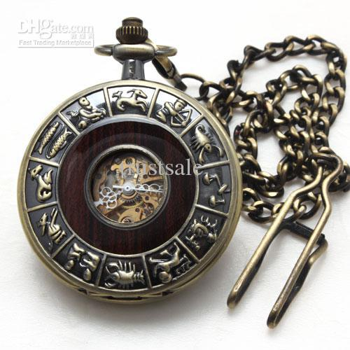 luxury men s chain watch mechanical skeleton pocket watches bronze luxury men s chain watch mechanical skeleton pocket watches bronze copper archaize timepiece
