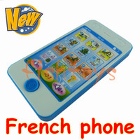 best learn french - blue color French language phone learning toys educational toys children s musical toy phone the boy best gift