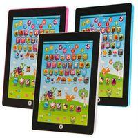 venda por atacado children laptop-Atacado-Espanhol Aprendizagem Computador Crianças Game Music Telefone Toy Tablet computador portátil Crianças Laptop Máquina Brinquedos Educativos eletrônico