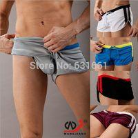 arrow fitness - Men s Boxer Shorts Underwear Hot Sale Wangjiang Brand Home Sports Short Pants for Mens Sexy Fitness Gym Arrow Shorts M L