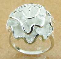 Wholesale jewelry silver rings Hot selling rose flower silver ring ZSR018 fashion jewelry