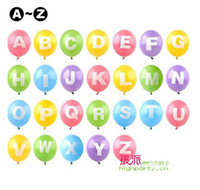 alphabet mylar balloons - set A Z Letters candy colors Wedding Festival Supply Decoration Mylar Balloon Large Alphabet Party Personalized