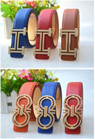 Wholesale New brand hot designer kids PU leather belts children fashion letters buckle belt girls boys Leisure strap high quality