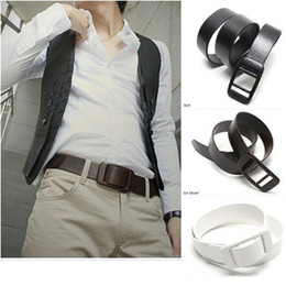 Wholesale-100% against the metal allergy! Sell lots of pure color, smooth plastic head both men and women belt  joker buckle belt