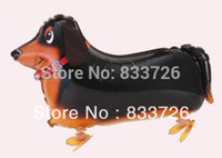 sausage - Hot sales walking pet balloons Sausage dog walking balloon kids toys helium balloons CMX46CM