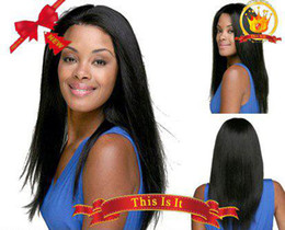 Wholesale African American human hair lace front wigs silky straight Celebrity Hairstyle