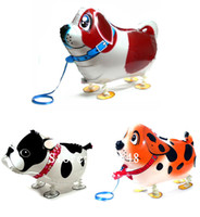Wholesale walking pet balloon dalmatian dog walking animal baloon inflatable foil balloon for party decoration