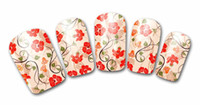 adhesive plastic wrap - Nail Polish Stickers Wraps Art Decorations Countryside Red Flowers Design Adhesive Minx Beauty Manicure Tools
