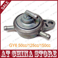 Wholesale way inline Vacuum Fuel Petcock Fuel Valve Fuel Cock for Chinese GY6 cc cc cc Scooter Moped ATV