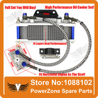 atv oil cooler - Dirt Monkey Pit Bike ATV Motorcycle Oil Cooler Radiator Cooling Parts Pit Pro IRBIS CRF KAYO to cc cc