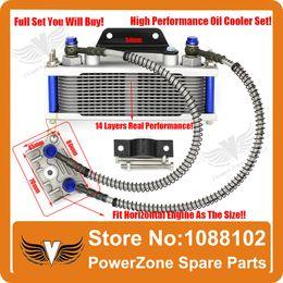 Wholesale-Dirt Monkey Pit Bike ATV Motorcycle Oil Cooler Radiator Cooling Parts Pit Pro IRBIS CRF KAYO 50 to 125cc 140cc Free Shipping