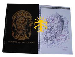 Wholesale Hetattoo Koi Sketch Book tattoo book tattoo flash tattoo design tattoo flahs book