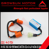 Cheap Wholesale-Racing Alloy A C CDI+ Ignition Coil for Chinese GY6 50cc QMB139 125cc 150cc Motor Scooters,ATV,Taotao, Roketa. Peace, Yiben, Nst