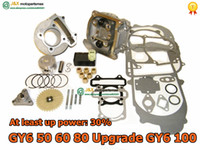 Cheap Wholesale-GY6 CYLINDER KIT 139QMB 139QMA GY6 50 80 upgrade GY6 100cc Big Bore Kit 50MM, Performance Coil CDI GY6 139QMB Chinese Scooter