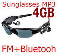 Wholesale car Sunglasses with Mp3 Player Bluetooth FM Radio GB Headset Sports Sun Glass sample
