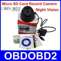 Vente en gros 2015 l'arrivée de nouveaux 700TVL de caméra de vidéosurveillance intérieure Avec 24 Leds TF / caméra de carte Micro SD enregistrement Night Vision facile d'utilisation à domicile de sécurité