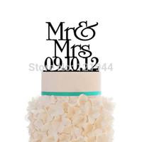 custom acrylic - Acrylic Mr amp Mrs Wedding Cake Topper Custom Date Cake Decorations Personalized Birthday Cake Topper