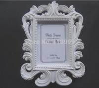 al por mayor la imagen barroca enmarca al por mayor-Al por mayor-barroco blanco 10PCS marco de fotos / LOT titular de la boda del partido tarjeta del lugar Nombre favor del envío libre