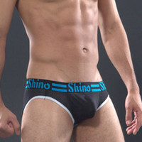 Cheap Wholesale-SHINO: Free shipping wholesale and retail 90% polymide low waist sexy fashion Jitu men mesh triangle underwear :SNcad