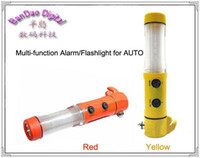 Wholesale Car in LED Flashlight Alarm Emergency Hammer safety belt Cutter Multi function Auto Tool sample