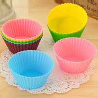 bake sale cakes - New Sale Round Shape Silicone Muffin Cases Cake pudding mini Chocolate Cupcake Mold cup Cake baking Mould Bakeware