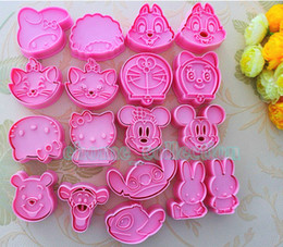Wholesale Various D Cartoon Shape Cookie Fondant Cake Sugarcraft Chocolate Decorating Plunger Cutter Mold set set for choosing