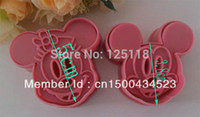 Wholesale factory sets of set mickey cutter for fondant cake decoration Cookie Sugarcraft cake tools mold bakery