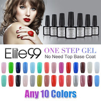Wholesale Elite99 ml No Need Base Top Coat UV LED Hot One Step Gel Polish Nail Choose colors out of colors Nail Gel Polish