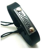 Bohemian believe quotes - Believe inspirational quotes alloy leather bracelets alloy bracelets mix order