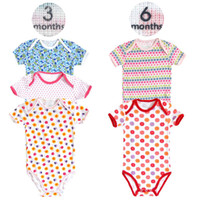 Wholesale M M Brand New Summer Newborn Short sleeve Jumpsuit Cotton Infant Clothing Baby Girl amp Boys Bodysuits
