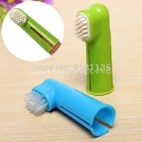 Cheap Wholesale-2pcs lot Pet Dental Brush Dog Tooth Brush Pet Oral Brush Pet Oral Kit Dog Teeth Brush Free Shipping