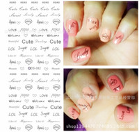 water nail decals - Hot selling nail art water decals decorations for nails nail decoration water transfer nail stickers DS77