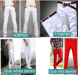 Wholesale summer and autumn summer men s jeans white color Men s Slim pants best seller cotton denim pants man