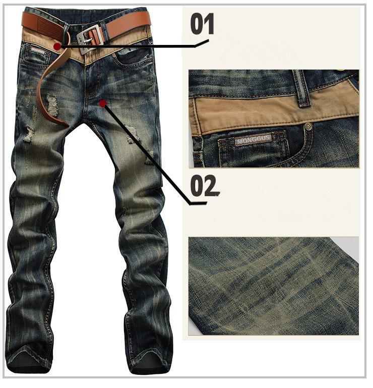 Wholesale-Brand New Style Trend Men Jeans Men Fashion Trousers ...