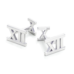 Wholesale LX01 silver cufflinks high quality WAVES silver cufflinks fashion jewelry Men Women Chains