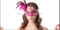 Wholesale new party masquerade masks Feather Face Marks feather fashion women sexy half face mask