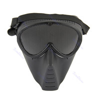 airsoft safety gear - Paintball Airsoft Gear Full Face Eyes Nose Wear Protector Safety Guard Mesh Mask