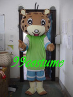 Wholesale Fur leopard boy Cartoon Mascot Costume Christmas Hallowmas Party Dress