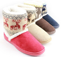 venda por atacado botas curtas-botas de atacado-Mulheres de neve, o veado botas curtas, sapatos de mobiliário de casa quente, algodão plana femininos sapatos-SYRM0013