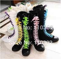 high heel rubber boots - Sizes colors Black White Fine Canvas Ankle High Heel Rubber Gumboots Boots Women Girls Sale Cheap Sneakers Shoes knee high